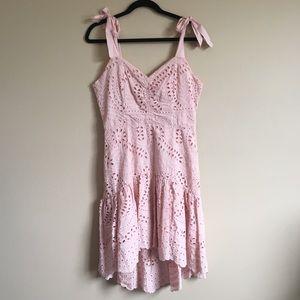 Parker Odysseia Eyelet Cotton Dress Pink 6